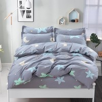 100% Cotton Nordic Style Bedding Set 4pcs Quilt Cover Geometric King Queen Twin Duvet Cover Bed sheet Fitted sheet Pillowcase