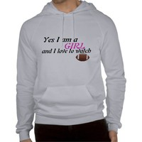 Woman's football hoodie from Zazzle.com