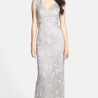 Women's Sue Wong Embellished Illusion Back Gown,