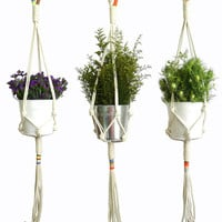 Colorblock Rope Plant Hangers