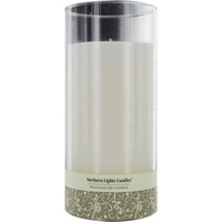 EVENING MUSK SCENTED by EVENING MUSK SCENTED ONE 7.5 inch GLASS PILLAR SCENTED CANDLE.  A BLEND OF WARM PATCHOULI AND MUSK SWEETENED BY YLANG YLANG.  BURNS APPROX. 110 HRS.