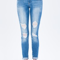 Dalia Knee Destroyed Skinny Jean