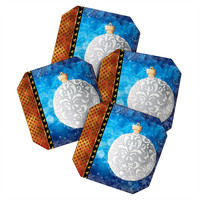 Madart Inc. Elegante 4 Coaster Set