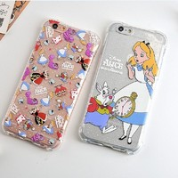 Alice & the Rabbit or Red Queen Case for iPhone 6 6s, 6 Plus