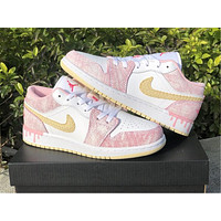 "Vip Air Jordan 1 Low GS ""Paint Drip"" Ice Cream Color"