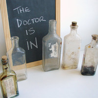 Antique Vintage Medicine Bottles / Apothocary by ThirdShift