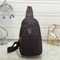 *Louis Vuitton* Fashion Zipper Crossbody Shoulder Bag