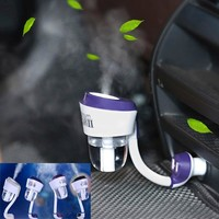 Nanum ii New 12V II Car Steam Humidifier with 2pc Car Charger USB Air Purifier Aroma Oil Diffuser Aromatherapy Mist Maker Fogger