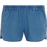 Madewell - Linen and cotton-blend chambray shorts