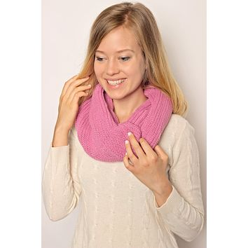 Twisted Knit Infinity Scarf