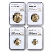 2019-W 4-Coin Proof Gold American Eagle PF-69 NGC Set