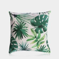 """Palm House Pillow Cover 18"""" x 18"""""""