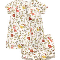 Cotton Dress with Puff Pants - from H&M