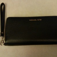 NWT Michael Kors Wallet/Wristlet Mercer Admiral Navy Travel Continental Leather