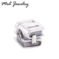 New Arrival 1PC European silver book Bead Charms Fits Diy pandora charm Bracelet Jewelry free shipping
