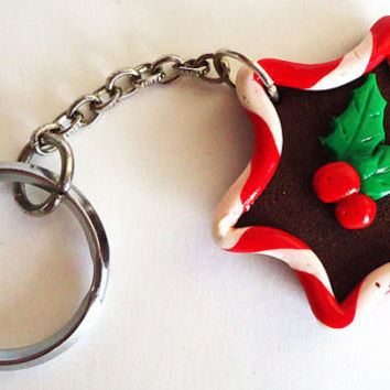 KEYCHAIN  Christmas Cookie by FrozenNote on Etsy