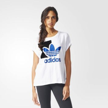 """""""Adidas"""" Fashion Casual Clover Letter Print Women Round Neck Short Sleeve T-shirt Tops"""