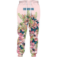 Butterfly Watercolor Joggers