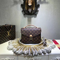 LV Louis Vuitton WOMEN'S MONOGRAM CANVAS METIS HANDBAG SHOULDER BAG