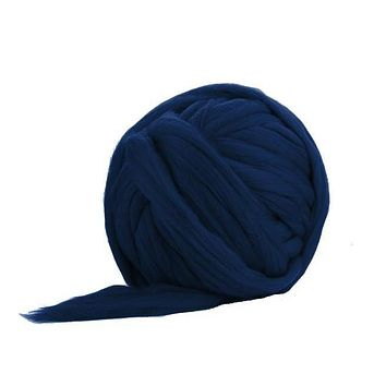 Soft Dyed (Ocean) Merino Jumbo Yarn - 7lb Special for Arm Knitted Blankets