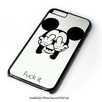 Mickey Mouse Says, Fuck It Design for iPhone and iPod Touch Case