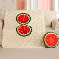 Multifunction Fruit Printing Nap Pillow Quilt