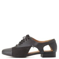 Qupid Cut-Out Oxfords by