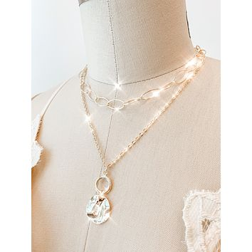 Chain Coin Layer Necklace