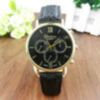 Unisex PU Leather Band Casual s Analog Quartz Luxury Vogue Dress Wrist Watch For Women Men IMY66