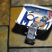 """Upcycled Small Texas License Plate Change Bowl """"The Lone Star State"""""""