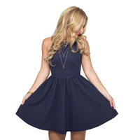 Skate On By Dress in Navy