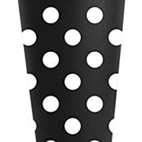 Funny Guy Mugs Polka Dot Travel Tumbler With Removable Insulated Silicone Sleeve, Black/White, 16-Ounce
