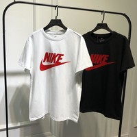"""Nike"" Unisex Sport Casual Letter Logo Print Couple Short Sleeve T-shirt Top Tee"