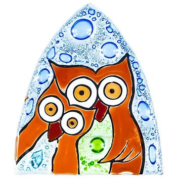 Owl DuoFused Glass Nightlight Cover
