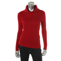 Lauren Ralph Lauren Womens Knit Cowl-Neck Pullover Sweater