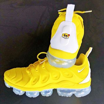 Nike Air Vapormax Plus Trending Women Men Casual Air Cushion Sport Running Shoes Sneakers Yellow