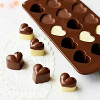 Non-stick Love Hearts Shape Silicone Cake Bakeware Tools Chocolate Ice Mold Cake Decoration Jelly Pudding Kitchen Cooking Tools