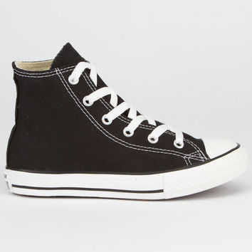 Converse Chuck Taylor All Star Hi Kids Shoes Black  In Sizes