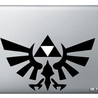 Zelda Triforce  macbook decal,Decal for Macbook Pro/ Air/Ipad,Macbook Decals/Stickers,Apple Decal for Macbook Pro /Air/laptop 084
