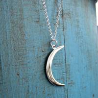 Crescent Moon Necklace Sterling Silver Necklace Silver jewelry Gift idea
