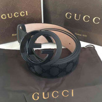 Men's Black Gucci Leather Belt