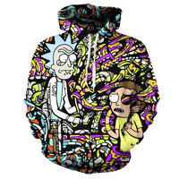 Rick and Morty Wrapped Up Hoodie