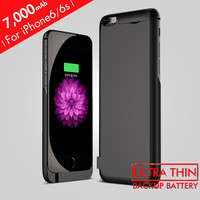 7000mAh Rechargeable Backup External Battery Charger Power Bank Case Cover for iPhone 6 Backup Battery Charger Case for iPhone6