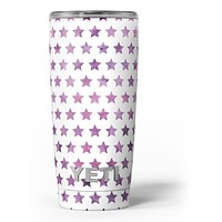 The Purple Grunge All Over Stars - Skin Decal Vinyl Wrap Kit compatible with the Yeti Rambler Cooler Tumbler Cups