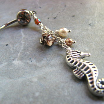 Nautical Seahorse Belly Ring
