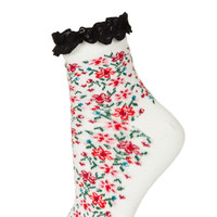 White Folk Frill Ankle Socks - New In This Week - New In - Topshop