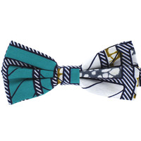 Tok Tok Designs Pre-Tied Bow Tie for Men & Teenagers (B417, African Wax Fabric)