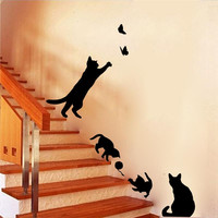 4 Cute Cats Wall Stickers