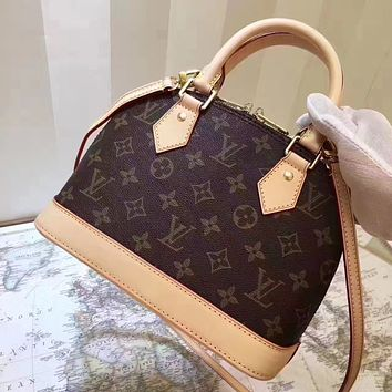 LV Louis Vuitton MONOGRAM CANVAS ALMA HANDBAG SHOULDER BAG