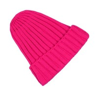 ZLYC New Unisex Fashion Winter Neon Bright Color Warm Knit Ribbed Beanie Hat Cap